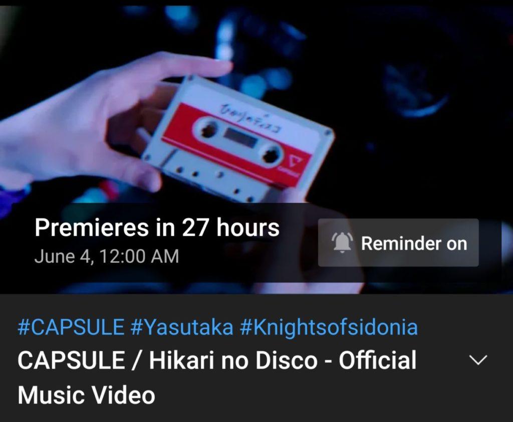 Capsule music video premiering in 27 hours